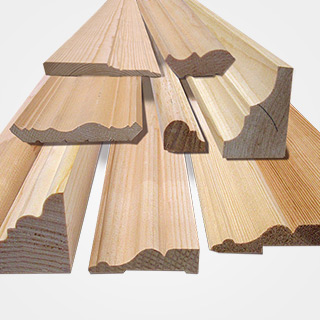 Plinthes, moulures, ogees, escaliers, cadrages en bois